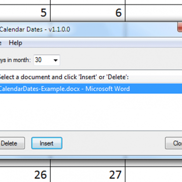 Download: Calendar Dates – Open Source