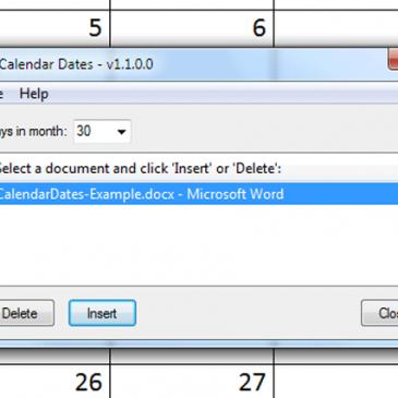 Download: Calendar Dates – Open Source