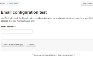 Screenshot: Moodle Mail Test