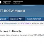 Leading the WET-BOEW-Moodle project