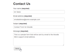 Contact Form for Moodle Contact Us Form Screenshot