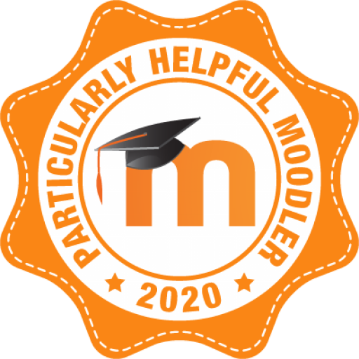 Badge: Particularly helpful Moodler 2020